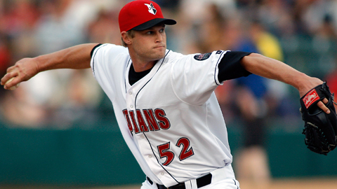 Chris Leroux is 1-0 with a 1.00 ERA in three starts since shifting to the Indians' rotation.